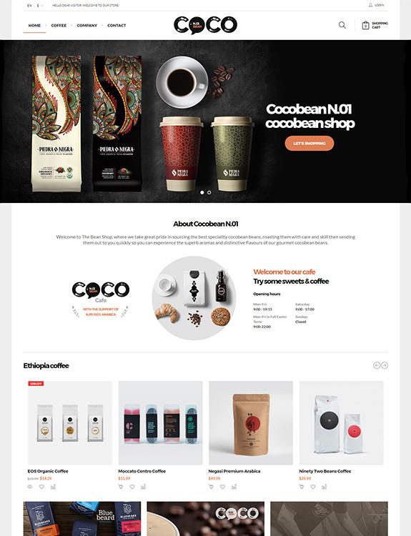 Cocobean - Responsive Magento Theme