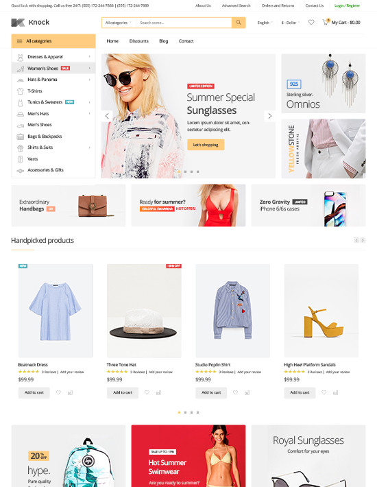 Knock - Multipurpose Responsive Magento Theme