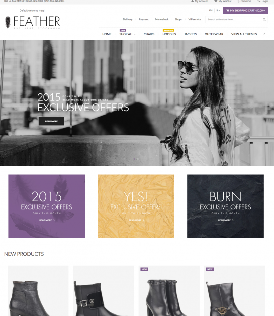 Feather - Responsive Magento Theme