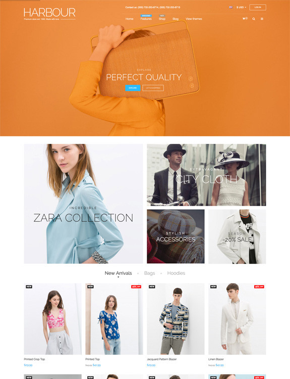 Harbour - Magento Theme