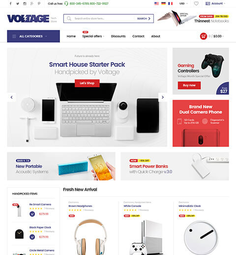 Voltage - Multipurpose Responsive Magento Theme